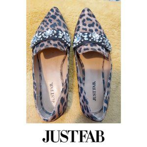 Leopard and Crystal Ballet Flats